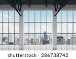 contemporary office space with... | Shutterstock . vector #286738742