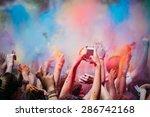 celebrants dancing during the... | Shutterstock . vector #286742168