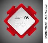 red illustration infographic... | Shutterstock .eps vector #286752362