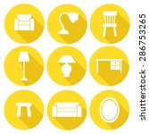 furniture vector icon set  flat ... | Shutterstock .eps vector #286753265