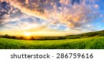 panorama of a colorful sunset... | Shutterstock . vector #286759616