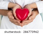 woman's and man's hands holding ... | Shutterstock . vector #286773962