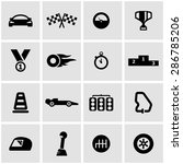 vector black racing icon set on ... | Shutterstock .eps vector #286785206