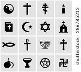 vector black religion icon set...   Shutterstock .eps vector #286785212
