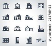 vector black buildings icon set. | Shutterstock .eps vector #286785485