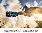 outdoor cross country running... | Shutterstock . vector #286785542
