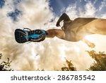 outdoor cross country running... | Shutterstock . vector #286785542