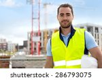 view of an attractive worker on ... | Shutterstock . vector #286793075