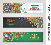 back to school banner set with... | Shutterstock .eps vector #286798652