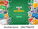 back to school banner with flat ... | Shutterstock .eps vector #286798655