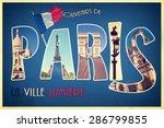 Collage Souvenirs De Paris  La...