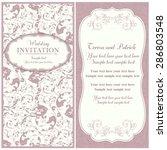 antique baroque wedding... | Shutterstock .eps vector #286803548