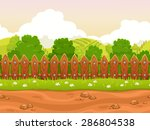 seamless cartoon country... | Shutterstock .eps vector #286804538