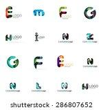 set of new universal company... | Shutterstock . vector #286807652