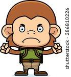 a cartoon hiker monkey looking... | Shutterstock .eps vector #286810226