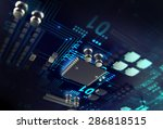 3d render of futuristic blue...   Shutterstock . vector #286818515