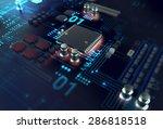 3d render of futuristic blue... | Shutterstock . vector #286818518