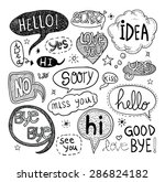 speech bubbles  vector... | Shutterstock .eps vector #286824182