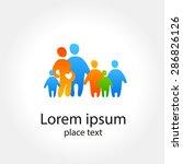 family logo concept.template... | Shutterstock .eps vector #286826126