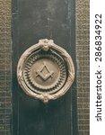 freemasonry sign on a door... | Shutterstock . vector #286834922