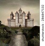 castle in an enchanted garden | Shutterstock . vector #286847132