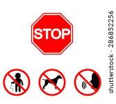 prohibition signs  set vector... | Shutterstock .eps vector #286852256