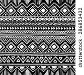 seamless ethnic pattern. black... | Shutterstock .eps vector #286853432