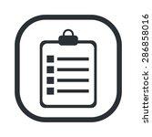 note icon vector.  | Shutterstock .eps vector #286858016