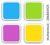 square blank icons in flat... | Shutterstock .eps vector #286860425