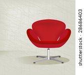 swanky retro red mid century... | Shutterstock .eps vector #28686403