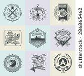fishing retro design insignias... | Shutterstock .eps vector #286865462