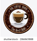 coffee time design over white... | Shutterstock .eps vector #286865888