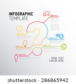 vector question mark... | Shutterstock .eps vector #286865942