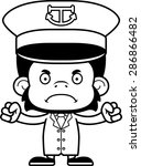 a cartoon boat captain... | Shutterstock .eps vector #286866482
