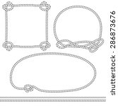 set of monochrome isolated rope ... | Shutterstock .eps vector #286873676