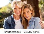 portrait of cheerful senior... | Shutterstock . vector #286874348