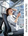 portrait of a happy business... | Shutterstock . vector #286878782