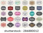 vector set of 30 of vintage...   Shutterstock .eps vector #286880012