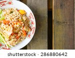 thai fried rice   delicious... | Shutterstock . vector #286880642
