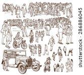 vector set of people | Shutterstock .eps vector #286886045