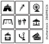 vector black amusement park... | Shutterstock .eps vector #286898126