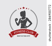 fitness club banner or poster... | Shutterstock .eps vector #286900772