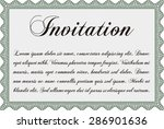 formal invitation. vector... | Shutterstock .eps vector #286901636