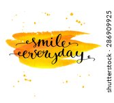 inspirational quote be smile... | Shutterstock .eps vector #286909925