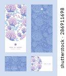 vector soft purple flowers... | Shutterstock .eps vector #286911698