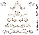 vector set  calligraphic design ... | Shutterstock .eps vector #286917452