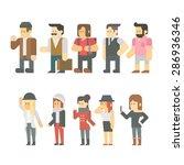 flat design of travel people... | Shutterstock .eps vector #286936346