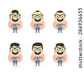 businessman cartoon set | Shutterstock .eps vector #286936655