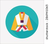 karate suit flat icon with long ... | Shutterstock . vector #286941065