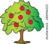 apple tree | Shutterstock .eps vector #286946222